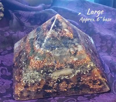LARGE Orgone Pyramid - Worthiness, Self-Esteem, Self-Love