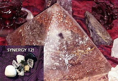 LARGE Orgone ASCENSION Pyramid - Synergy 12 Crystals Inside!