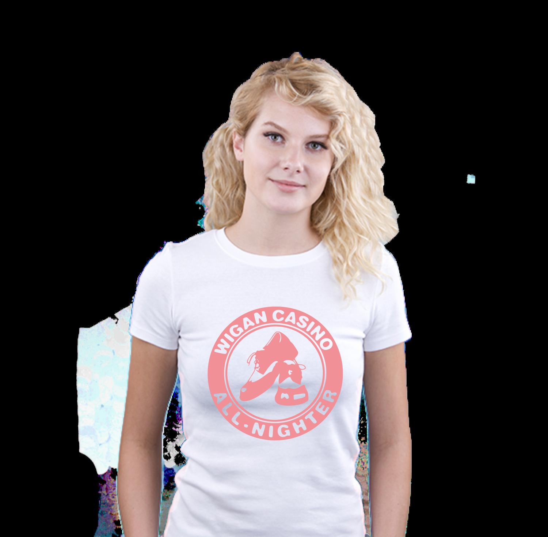 Ladies T-Shirt - N/Soul Wigan Casino Shoe
