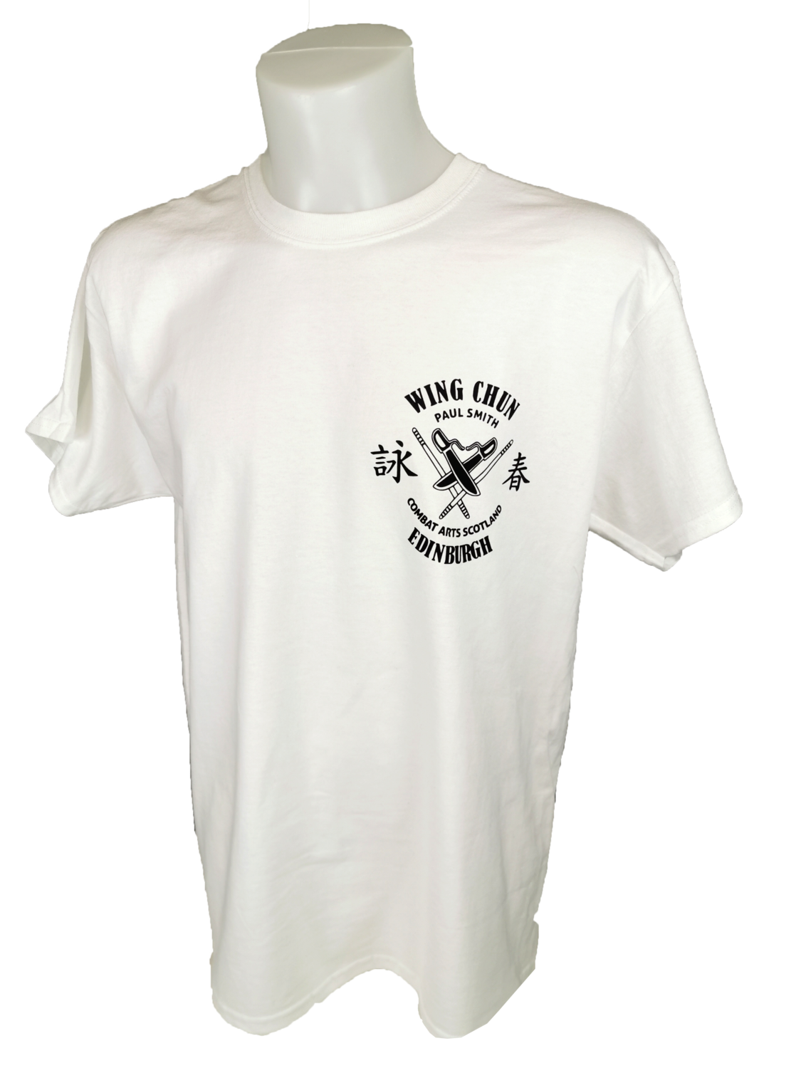 Men's T-Shirt - Combat Arts Scotland - White - Wing Chun