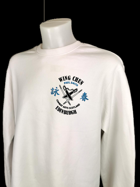 Sweatshirt - 2 Colour Combat Arts Scotland - White - Wing Chun