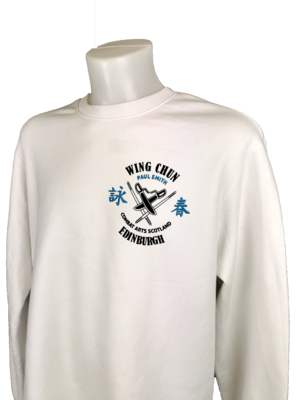 Sweatshirt - 2 Colour Combat Arts Scotland - White - Wing Chun