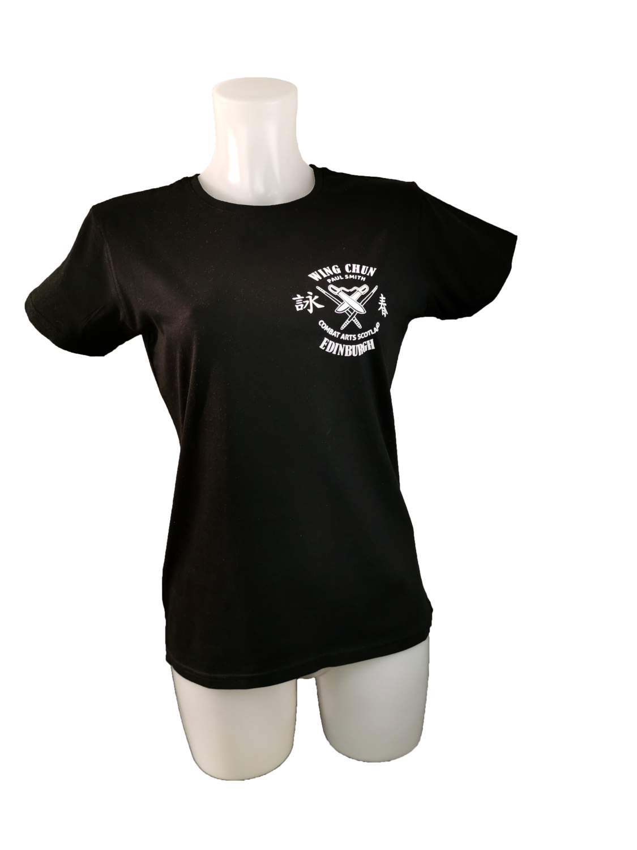LADIES T.Shirt - Combat Arts Scotland - Black - Wing Chun