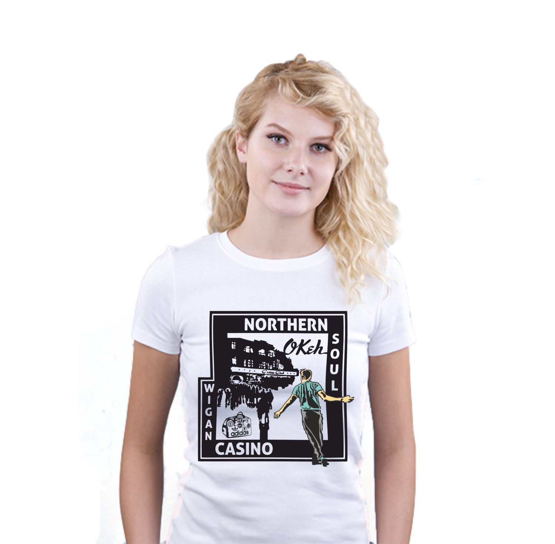 Ladies T-Shirt - N/Soul Wigan Casino Club_Series_2_Colour