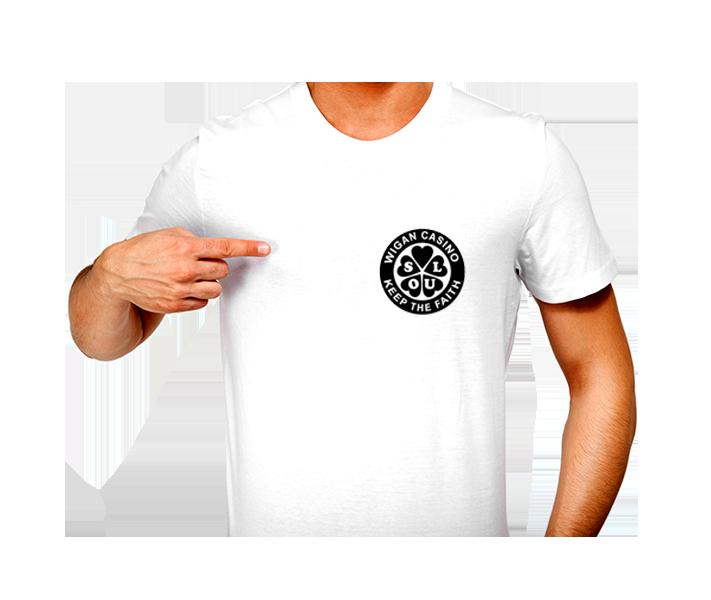 T-Shirt - N/Soul Wigan Casino CLOVER Patch