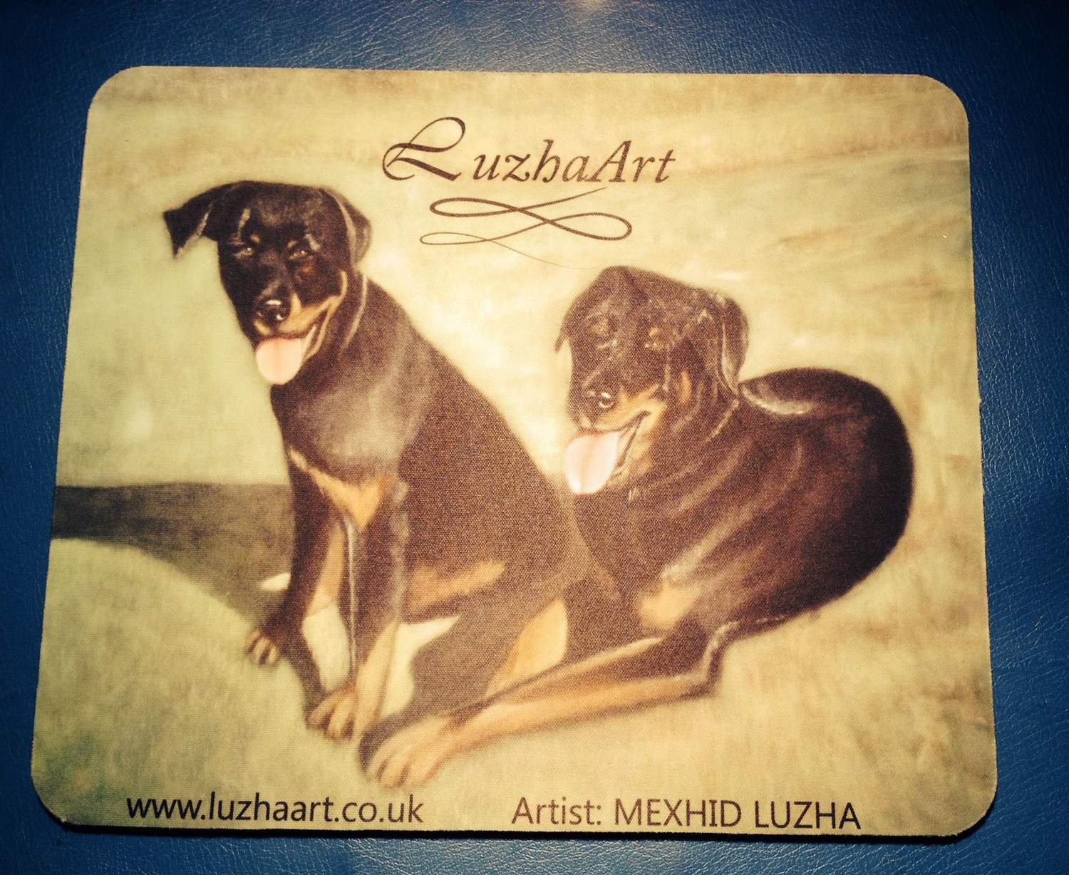 Mouse Mat - 2 Dogs
