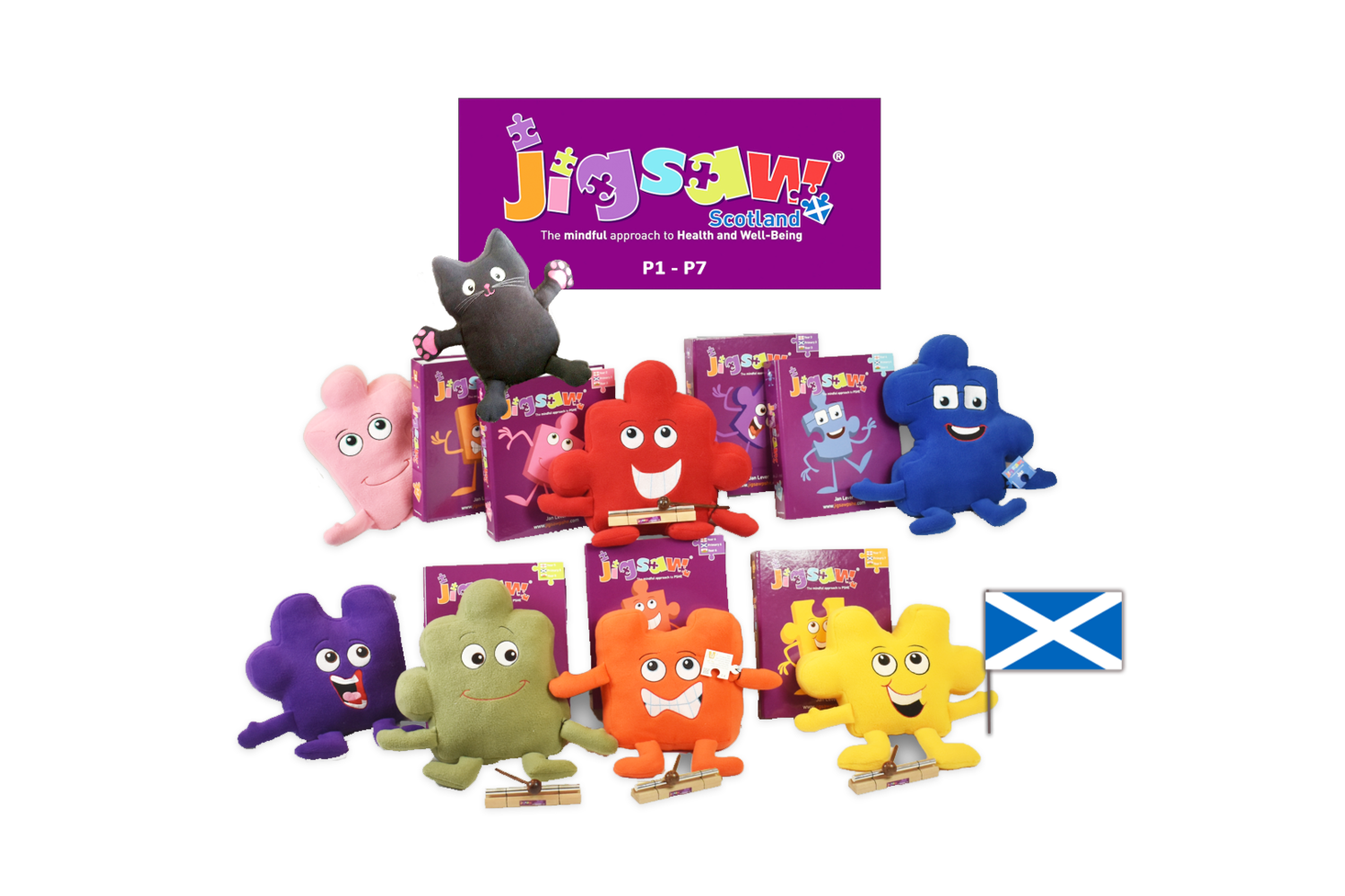 Jigsaw Whole Primary School Set (ages 5-12) for Scotland