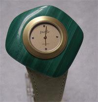 Puzzle Uhr in grün