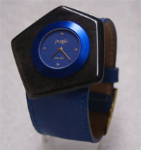Puzzle Uhr in Blau