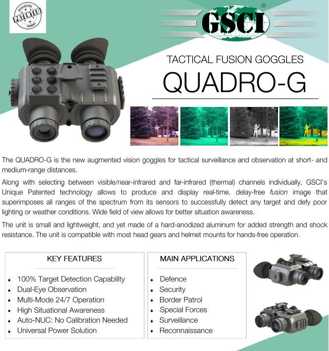 Quadro-G Tactical Fusion Goggles