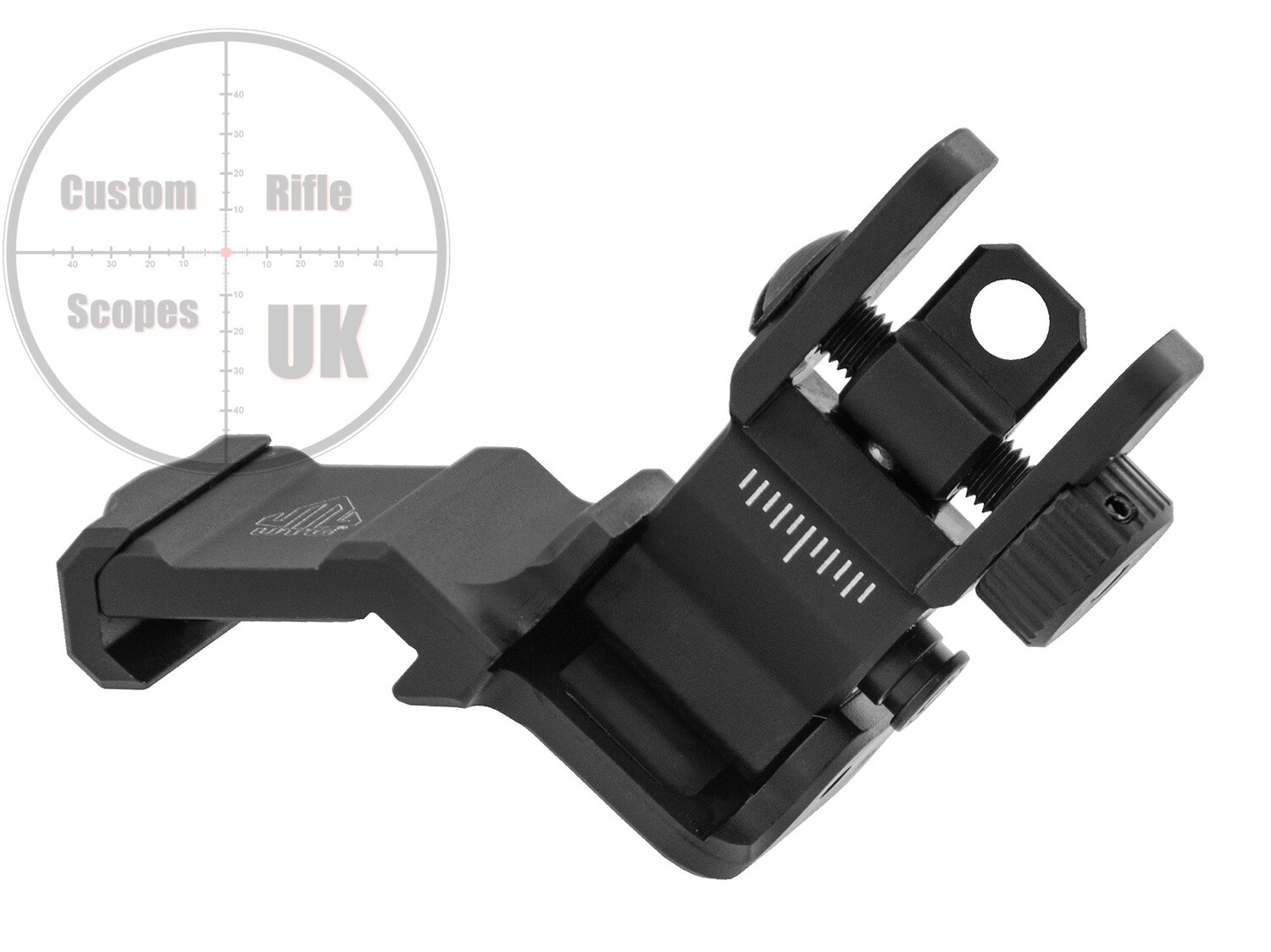 UTG ACCU-SYNC® 45 Degree Angle Flip Up Rear Sight