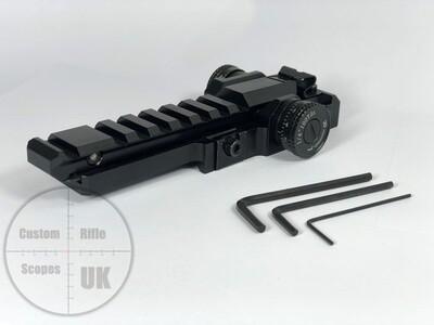 ZB lite Pro MK2 adjustable zeroing mount ( weaver/picatinny )