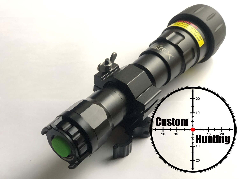 X-Night torch/laser illuminator ball joint type clamp weaver/picatinny