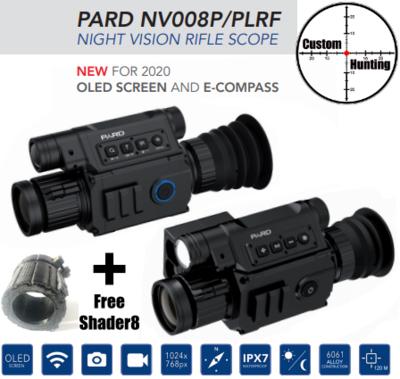 PARD 008P/PLRF HD rangefinder day/night scope + FREE shader8