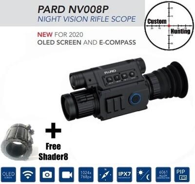 PARD 008P HD rangefinder day/night scope + FREE shader8