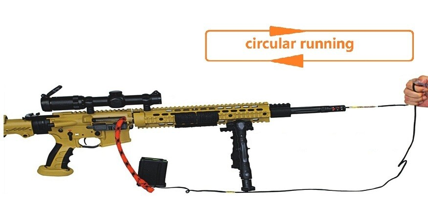 Circular Snake-Rope Gun Cleaning Kit for most calibres from .22 to 12G