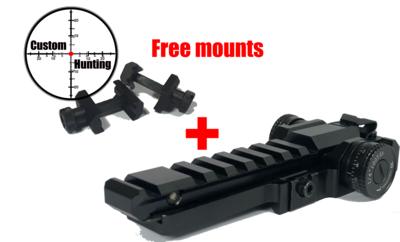 ZB lite Pro MK2 adjustable zeroing mount (weaver/picatinny) + free picatinny mounts.