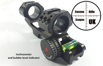 One Piece scope mount with Angle Indicator & Bubble Level
