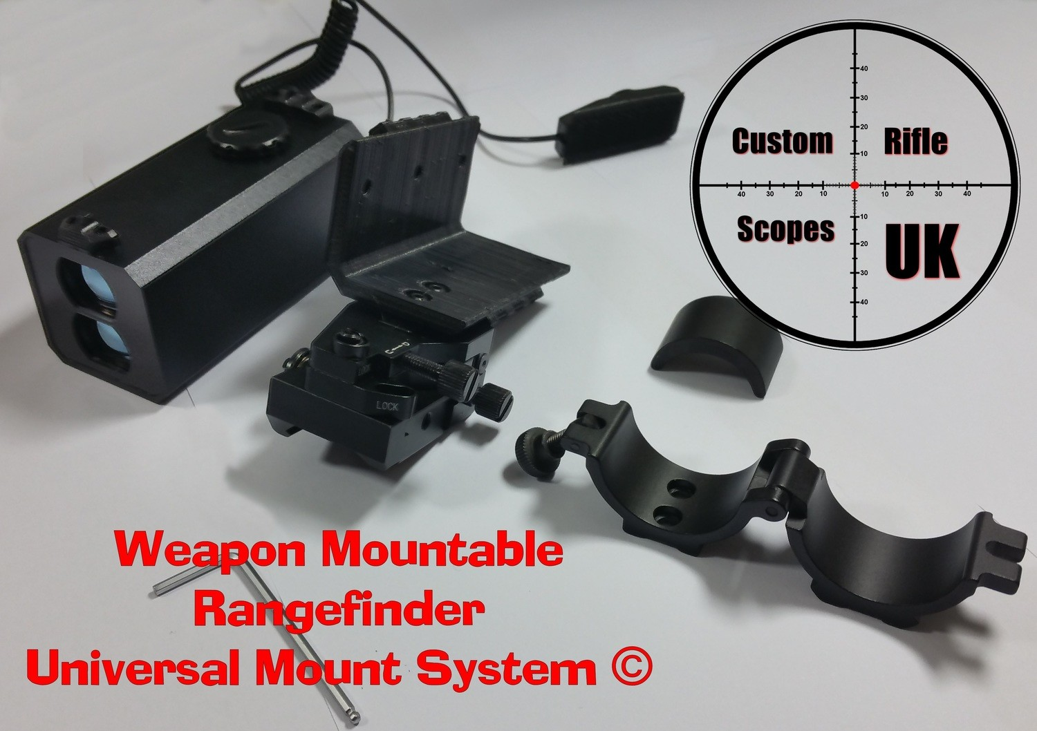 Mountable (Universal Mount System © V3 ONLY), zero to your rifle scope !