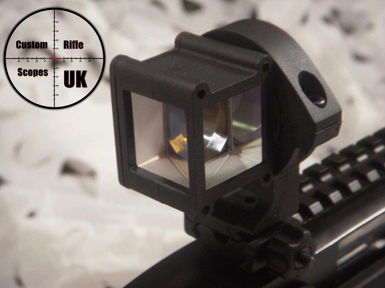Right Angle sight, 360 deg mirror twist adding tactical advantage to your setup