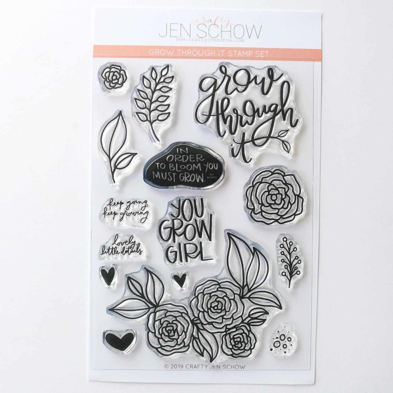 Grow Through It 4x6 Stamp Set