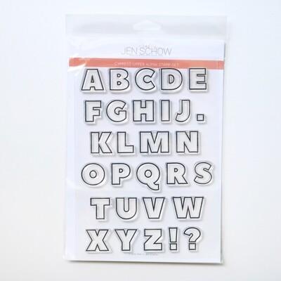 Cypress Upper Alpha 6x8 Stamp Set