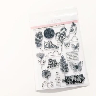 Wildflower 6x8 Stamp Set