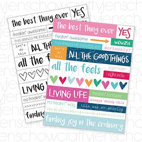 Living Life Printable Word Strips