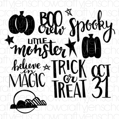 Spooked Cut File (set of 13)