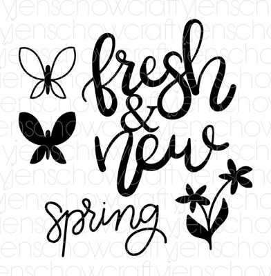 Spring Fresh Cut File (set of 5)