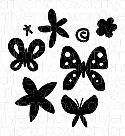 Flowers & Flutters Cut File (set of 8)
