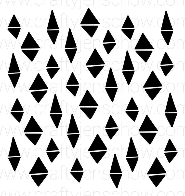 Wonky Triangle Background Cut File