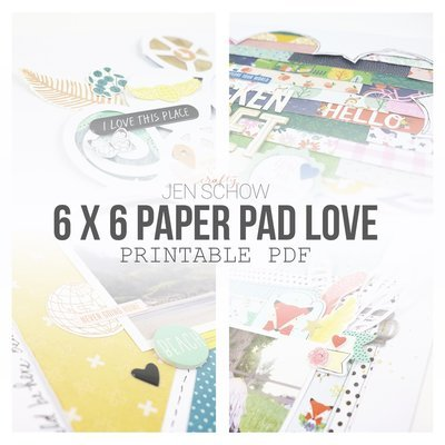 6 x 6 Paper Pad Love Tips + Tricks eBook