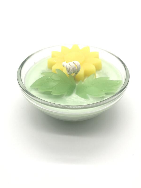 Honeysuckle Scented Floral Candle, SM Bowl