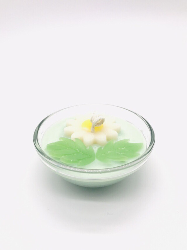 Magnolia Scented Floral Candle, SM Bowl