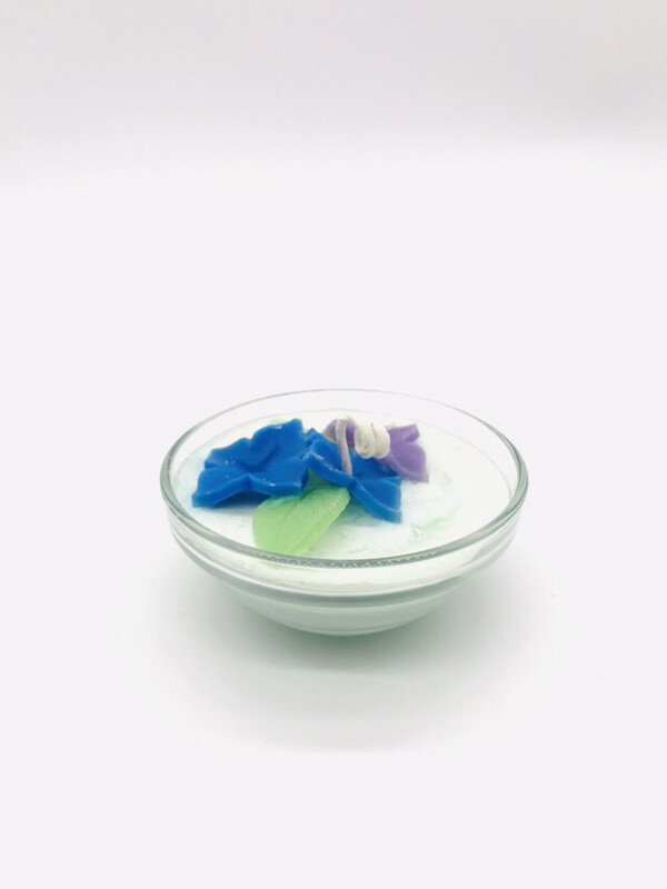 Hydrangea Scented Floral Candle, SM Bowl