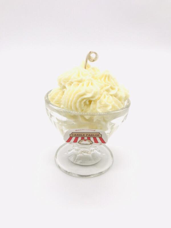 Lemon Scented Ice Cream Candle, XS Sundae