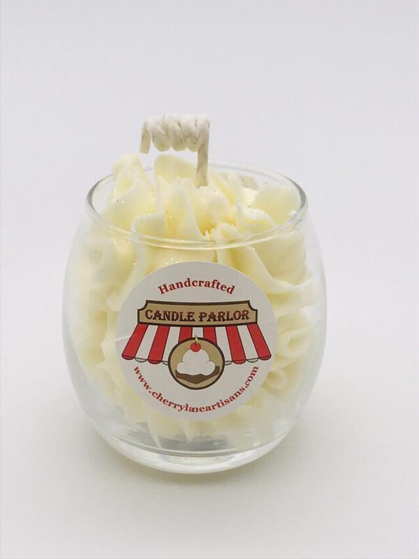 Lemon Scented Sundae Candle, Globe