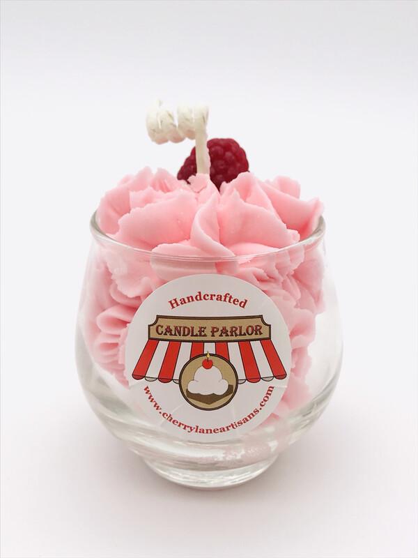 Raspberry Scented Sundae Candle, Globe