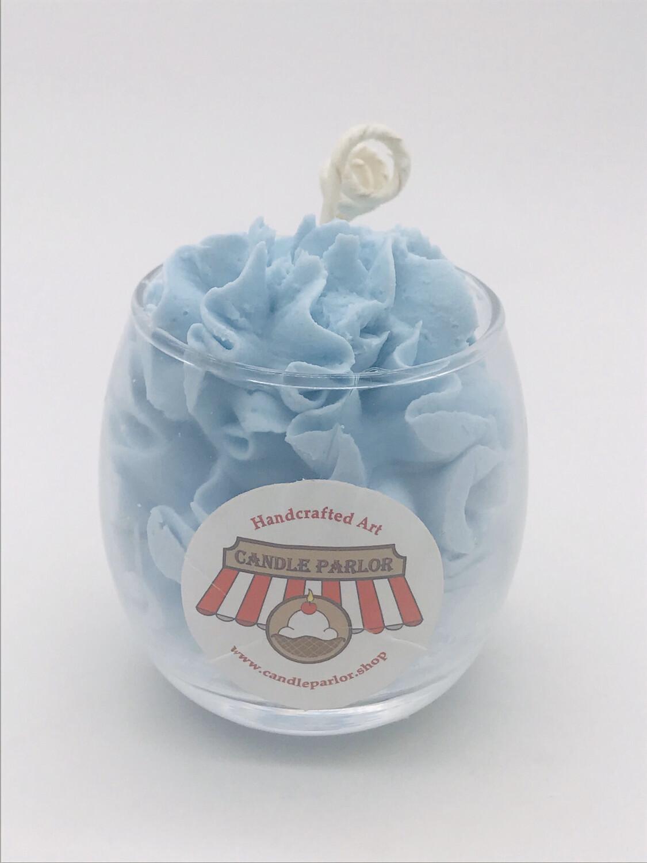 Blueberry Scented Sundae Candle, Globe