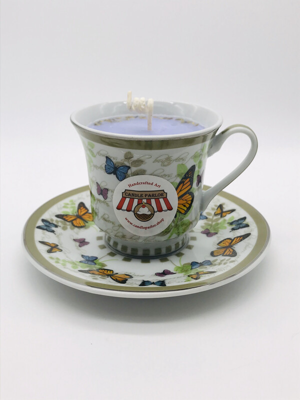 Lavender Scented Tea Cup Set Candle