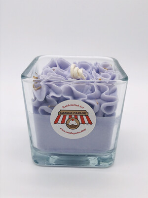 Lavender Scented Candle, Square Jar
