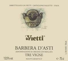 Vietti Barbera d' Asti, Tre Vigne - Piedmont, Italy (4619)