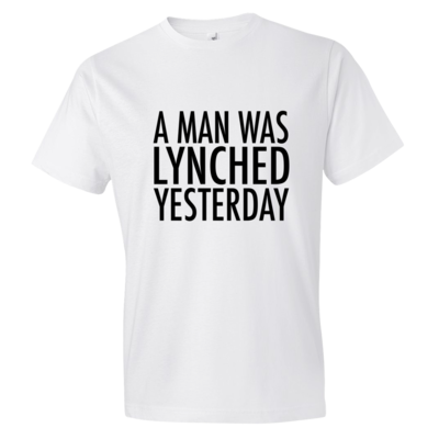 A MAN WAS LYNCHED