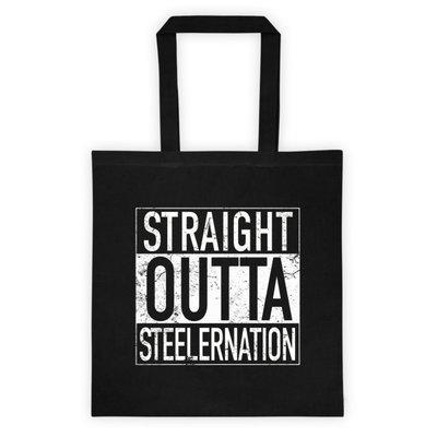 STRAIGHT OUTTA STEELERNATION Tote Bag