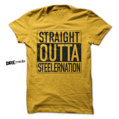 STRAIGHT OUTTA STEELERNATION (Blk Ink)