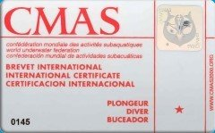 CMAS 1* DIVER (VDST/DTSA)