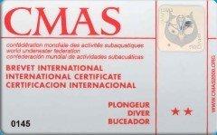 CMAS 2* DIVER (VDST/DTSA)
