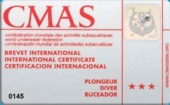 CMAS 3* DIVER (VDST/DTSA)