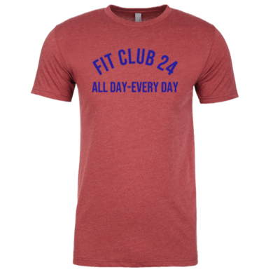 Red Fit Club 24 Tee